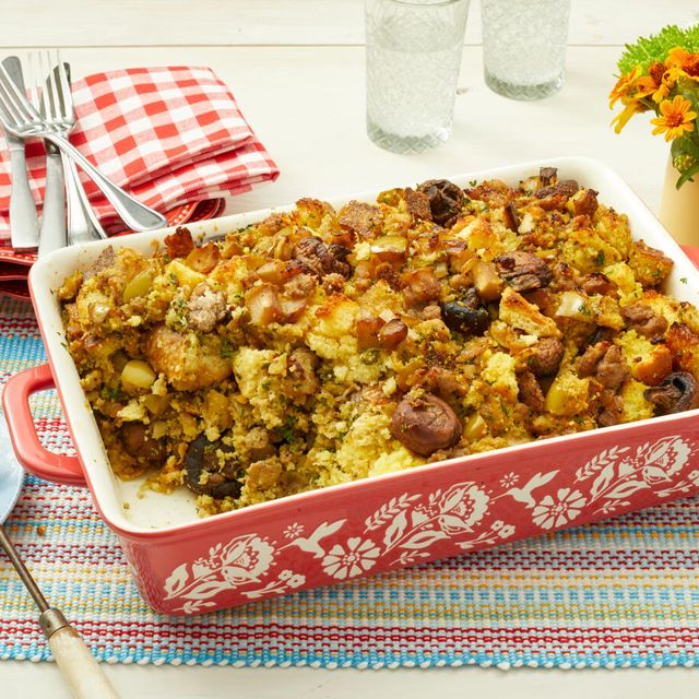 cornbread dressing with sausage and apples recipe