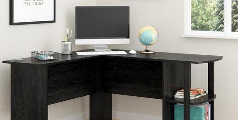 Furniture, Desk, Computer desk, Table, Room, Desktop computer, Technology, Writing desk, Office, Material property,