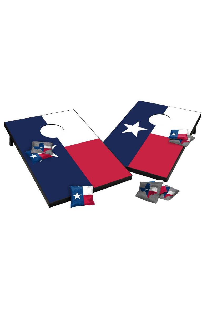 texas state flag cornhole tailgate toss game