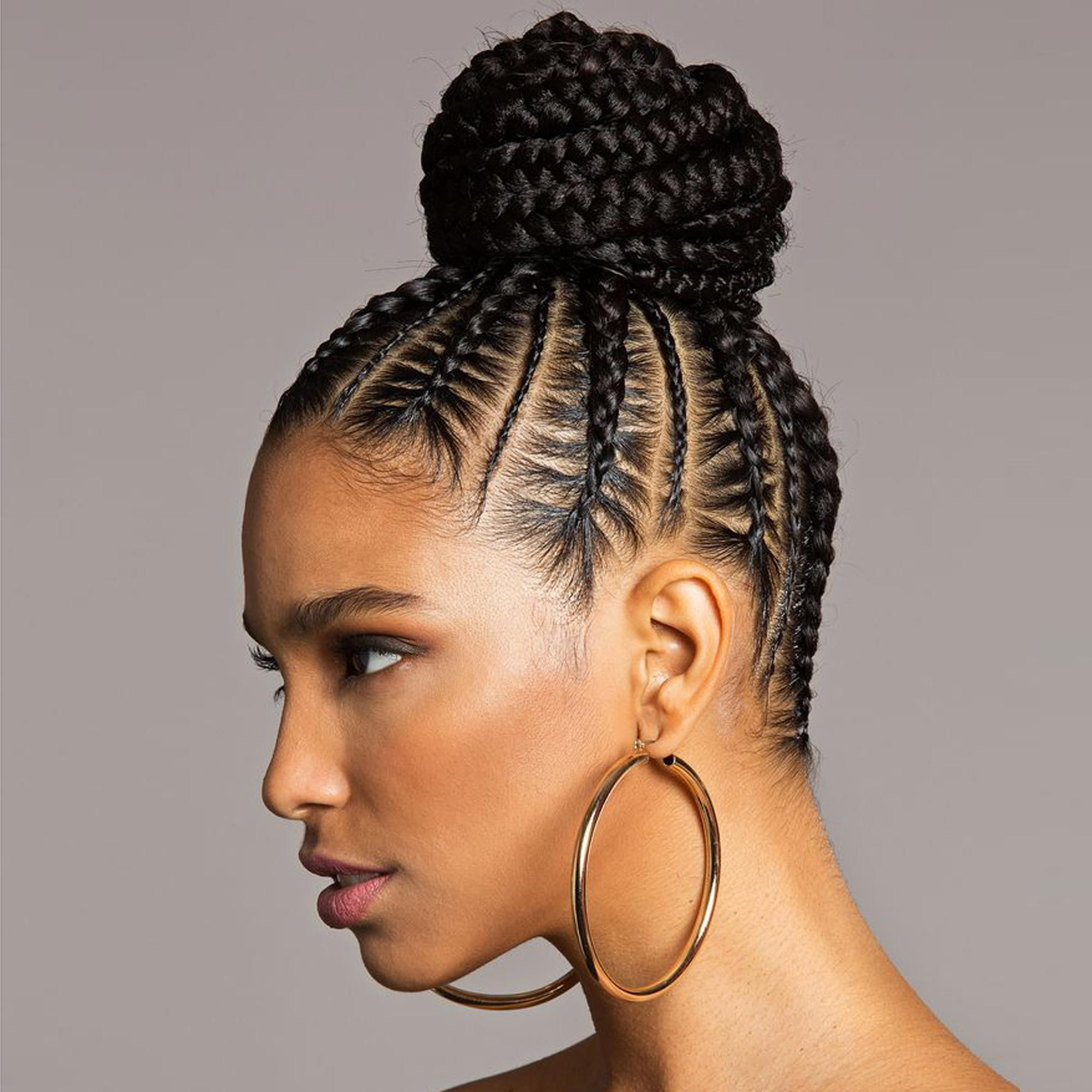 3 Best Braided Bun Tutorials of 2019 , Easy Natural Braided