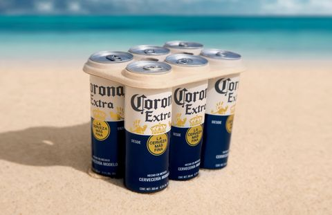 Corona Is The First Major Beer Brand To Test Plastic-Free Six-Pack Rings