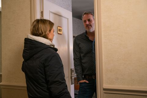 Abi Franklin and Ray Crosby in Coronation Street