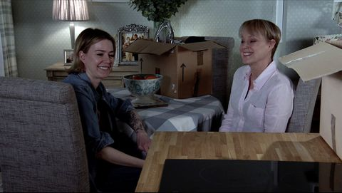 abi franklin and sally metcalfe in coronation street
