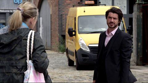 bernie winter and adam barlow in coronation street
