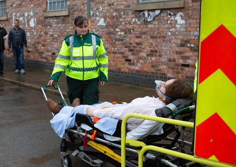Ali Neeson is rushed to hospital in Coronation Street