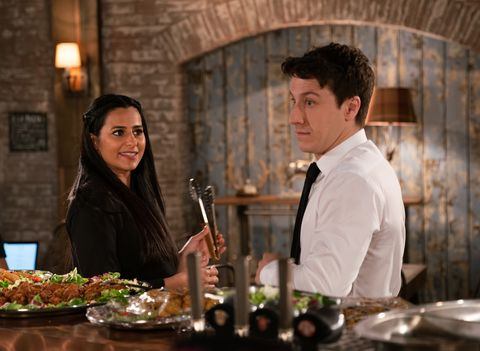 Alya Nazir and Ryan Connor in Coronation Street