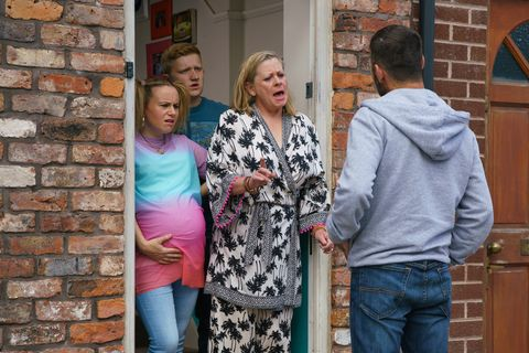 Bernie Winter is confronted over her pregnancy test scam in Coronation Street
