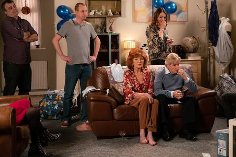 Bertie's homecoming party in Coronation Street