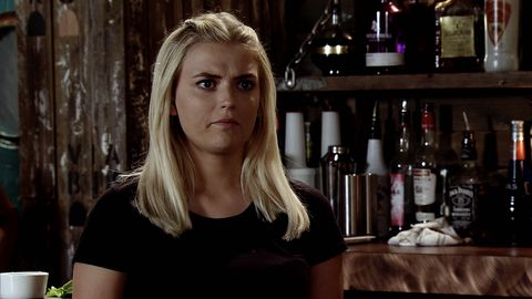 Bethany Platt gets a shock at the Bistro in Coronation Street