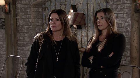 Carla and Michelle Connor in Coronation Street
