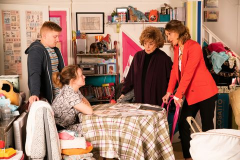 Chesney Brown and Gemma Winter in Coronation Street