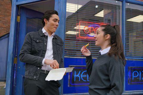 Corey and Amy Barlow in Coronation Street