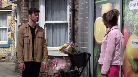 curtis delamere and emma brooker in coronation street