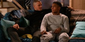 James Bailey with Danny in Coronation Street