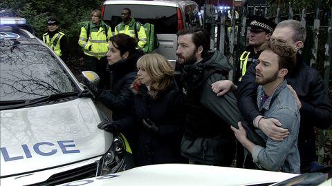 Gail Rodwell, David Platt and Nick Tilsley worry about Shona in Coronation Street