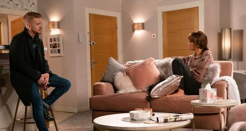 Gary Windass, Liam Connor and Maria Connor in Coronation Street