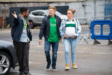 Chesney Brown and Gemma Winter visit Weatherfield County's ground in Coronation Street