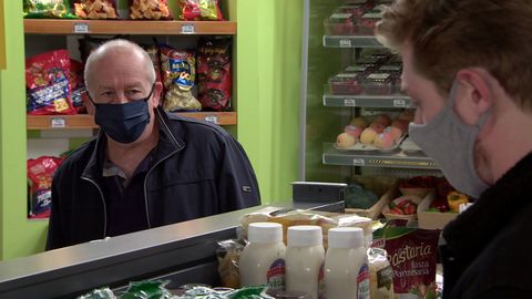 geoff metcalfe and daniel osbourne in coronation street