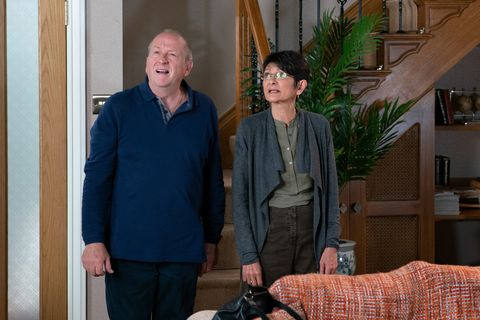 Geoff Metcalfe and Yasmeen Nazir in Coronation Street