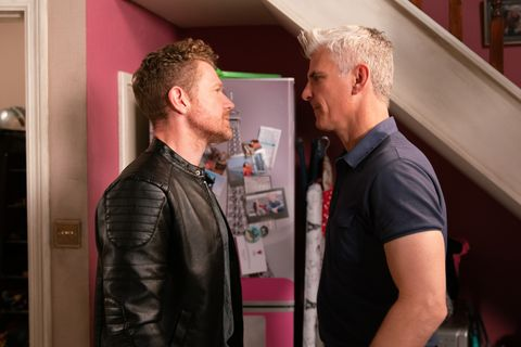Jed clashes with Robert Preston in Coronation Street