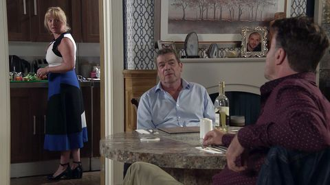 jenny connor, johnny connor and scott emberton in coronation street