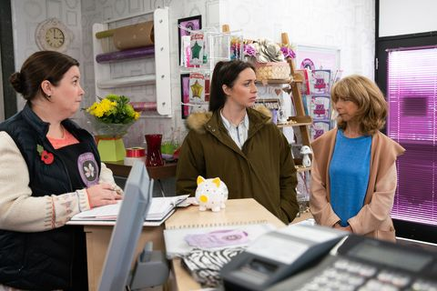 Mary Taylor, Shona Ramsey and Gail Rodwell in Coronation Street