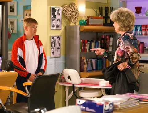 Audrey Roberts confronts Max Turner in Coronation Street