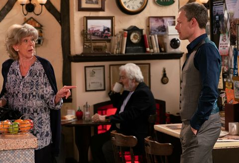 Nick Tilsley approaches Audrey Roberts in Coronation Street