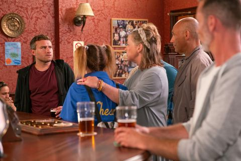 Paul Foreman is unhappy to see Kel in Coronation Street