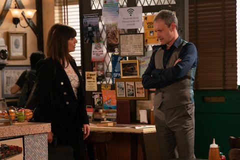 Paula Martin warns Nick Tilsley in Coronation Street