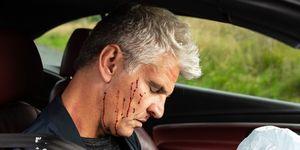 Robert Preston's car crash in Coronation Street