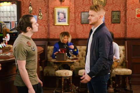 Seb Franklin and Gary Windass in Coronation Street