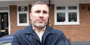 Rick Neelan watches Gary Windass in Coronation Street