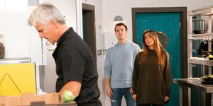 Michelle Connor confronts Robert Preston in Coronation Street