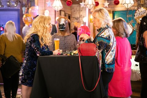 Abi Franklin and Eileen Grimshaw at New Year in Coronation Street