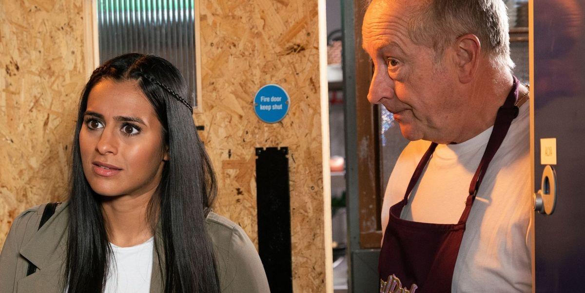 Coronation Street's Alya Nazir grows suspicious over Geoff Metcalfe mistreating Yasmeen