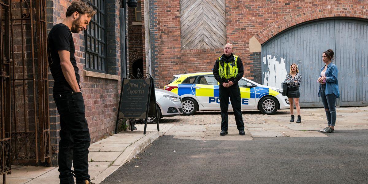 Coronation Street spoiler pictures show David face arrest