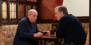 Geoff Metcalfe and Brian Packham in Coronation Street