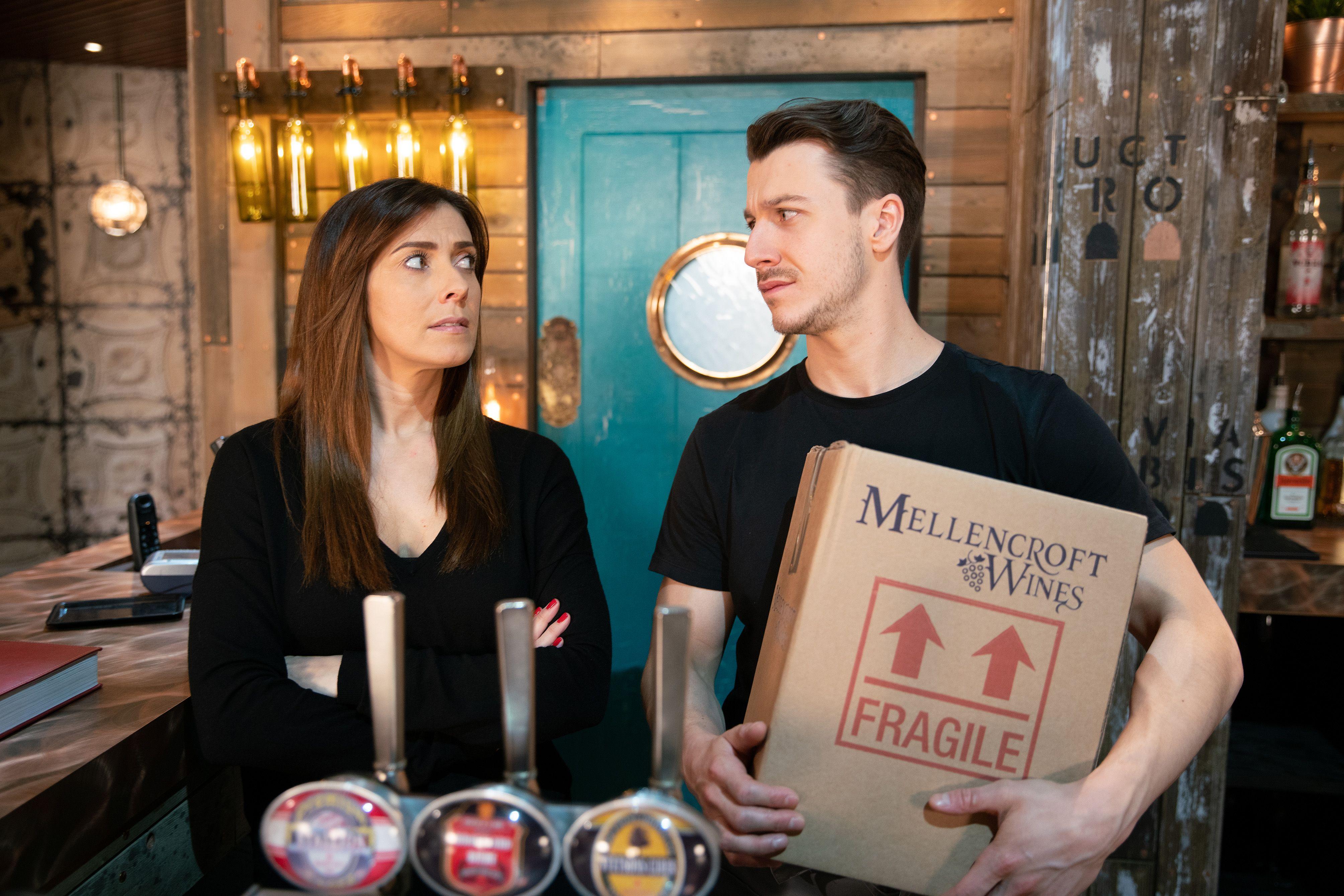 Michelle Connor draws Ryan into a plan in Coronation Street
