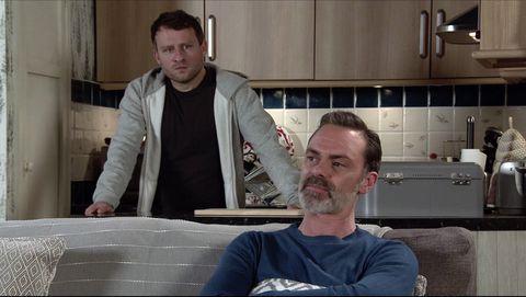 paul foreman and billy mayhew in coronation street