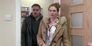 Tyrone Dobbs and Fiz Stape in Coronation Street