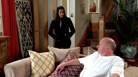 alya nazir and geoff metcalfe in coronation street
