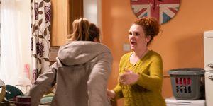 Fiz Stape attacks Jade Rowan in Coronation Street