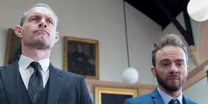 Nick Tilsley and David Platt appear in court in Coronation Street