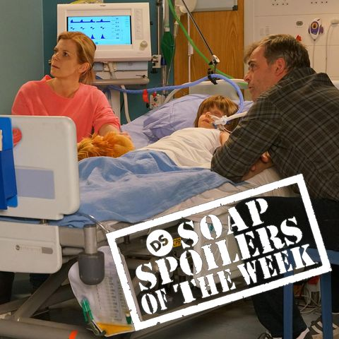 leanne battersby with oliver in hospital in coronation street