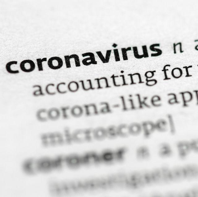 coronavirus   word definition close up