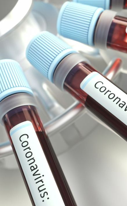 Coronaviruses research, conceptual illustration