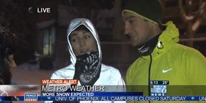 corredora, confiesa, correr, nieve, seguro, se cae