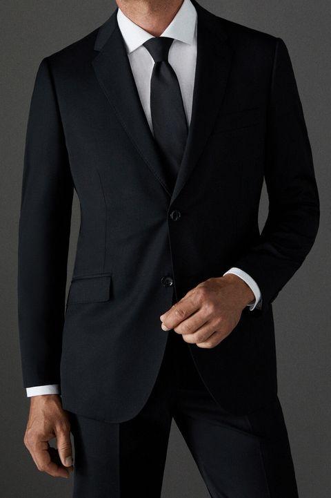 traje negro hombre, traje hombre, traje cortefiel