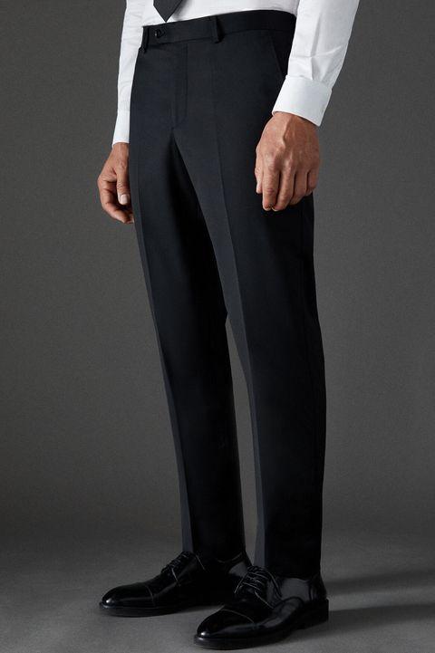 pantalon traje negro hombre, pantalon hombre, traje hombre, traje cortefiel